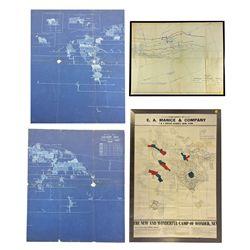 NV - Wonder,Churchill County - 1916-1919 - Wonder Maps (Framed)