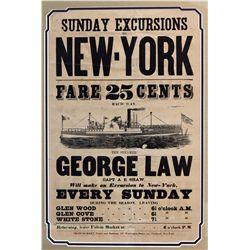 NY - New York City,c1850 - George Law Broadside