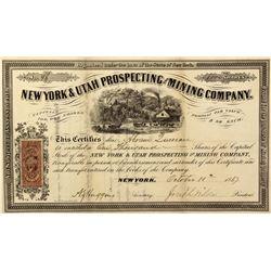 NY - New York City,New York County - 10 October 1867 - New York Stock Certificate