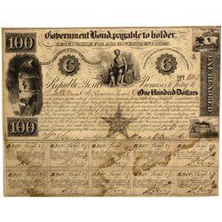TX - Austin,Travis County - 1840 - Republic of Texas Bond