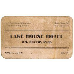MI - Grass Lake,Jackson County - c1900s - Brothel Greeting Card