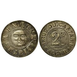 France,c1890-1910 - French Brothel Token - Silver