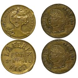 France,c1890-1910 - French Brothel Tokens