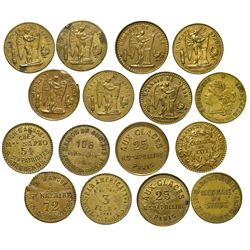 France,c1900 - French Night Club Tokens