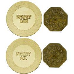 AZ - Dewey Bar Token & Saloon Gaming Chip