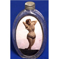 MO - St. Louis,c1890 - Glass Bottle With Saloon Girl