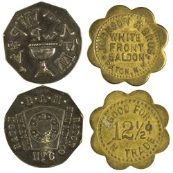 NM - Raton,Colfax County - c1910 - Raton Saloon and Club Tokens