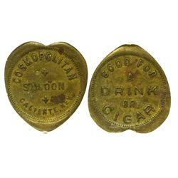 NV - Caliente,Lincoln County - c1908 - Cosmopolitan Saloon Token