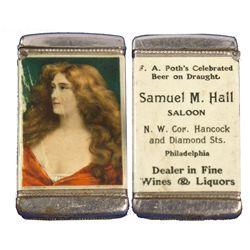 PA - Philadelphia,Philadelphia County - c1900 - Saloon Match Holder