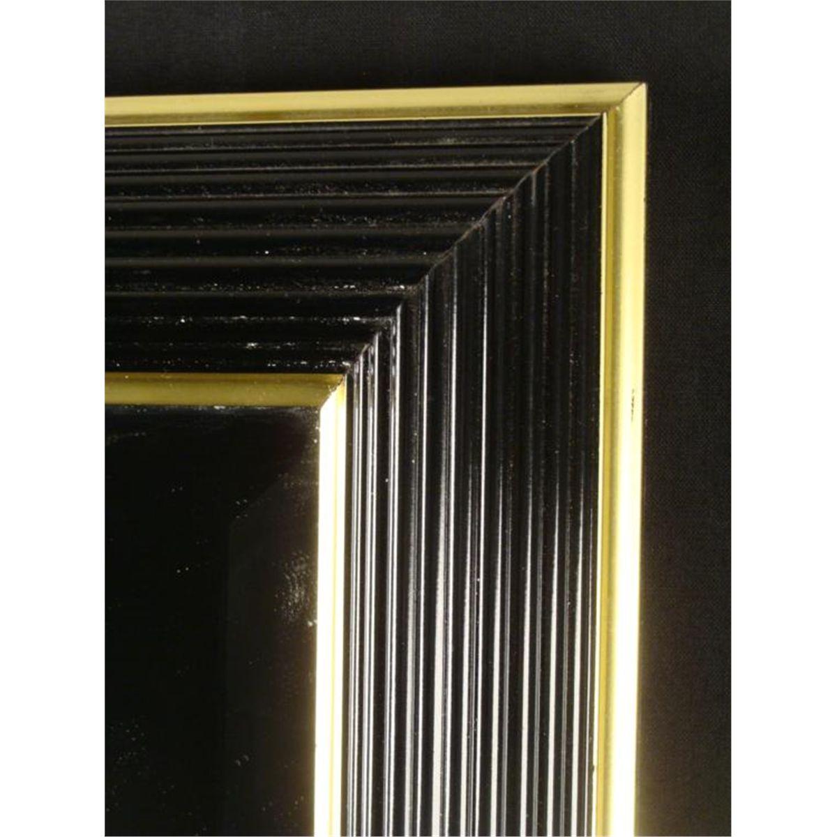 Bombay Company 24x30 Black Gold Art Deco Wall Mirror