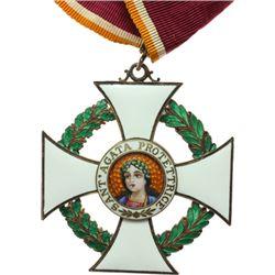 San Marino   Decorazione da commendatore dell'Ordine di S. Agata, con nastrino originale.