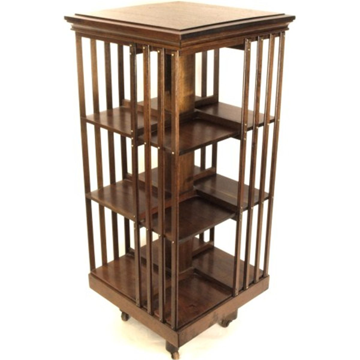 Antique Mahogany Danner Style Revolving Bookcase