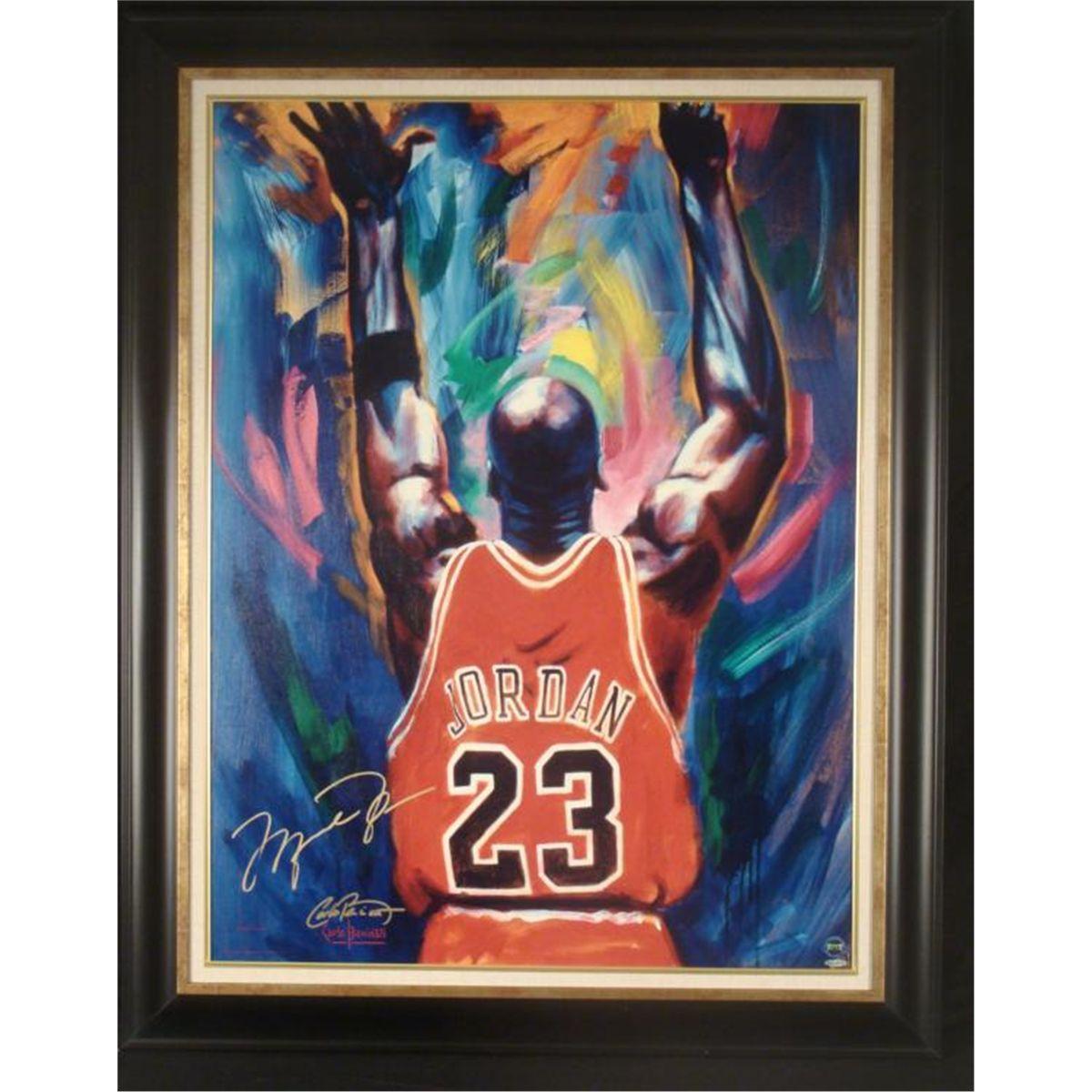 b86c8568af6 Michael Jordan Signed Art Print Frmd-Last Victory Dance. Loading zoom
