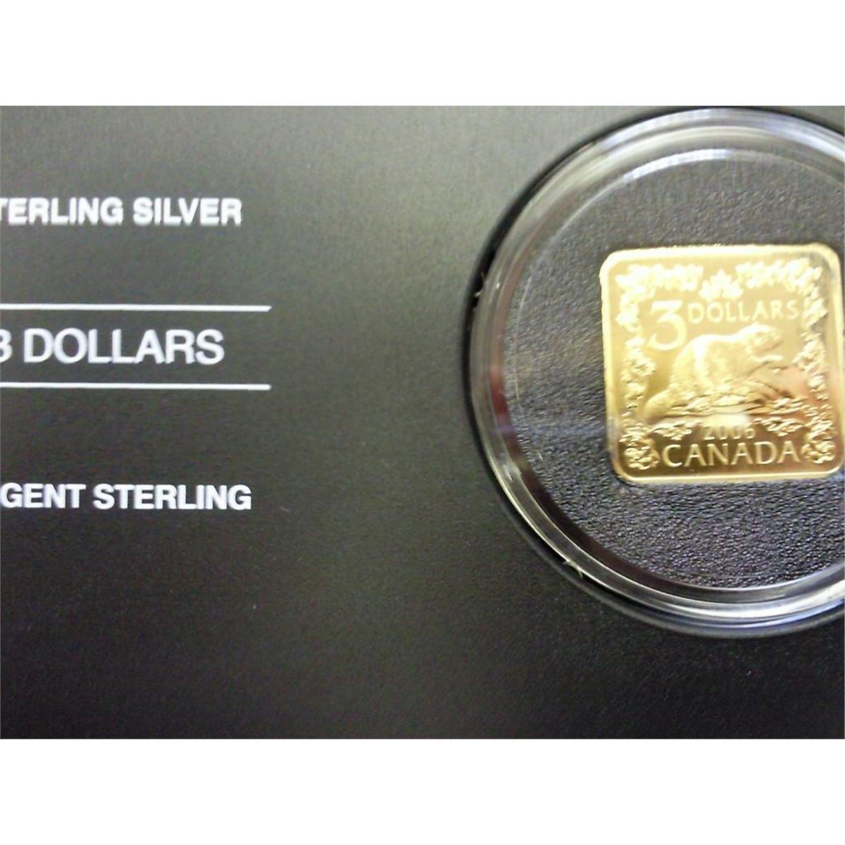 2006 Canada $3 Beaver Sterling Silver Square Coin