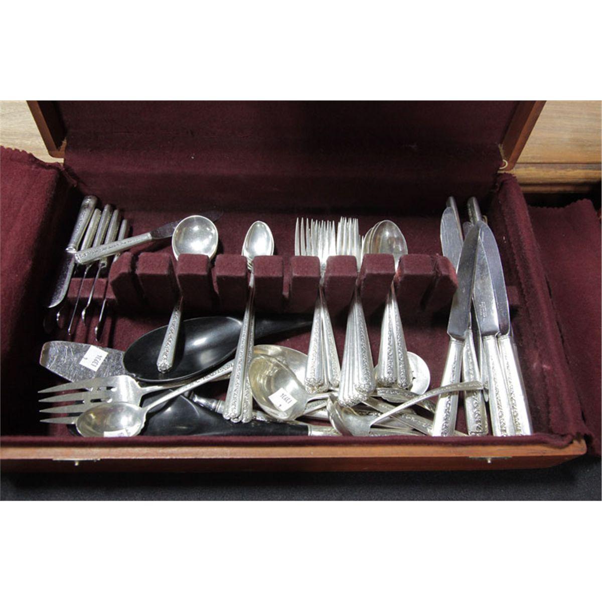 Sterling Silver Flatware Towle Rambler Rose Salad Fork