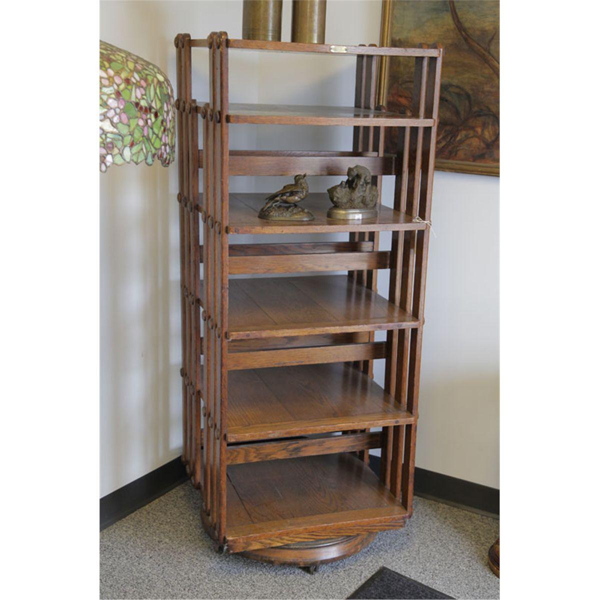 Sargent Arts Crafts Rotating Bookcase Oak