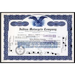 Indian Motocycle Stock Certificate.