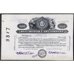 REO Motor Car Company Proof Stock Certificate.