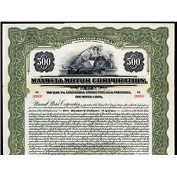Maxwell Motor Corporation Specimen Bond.