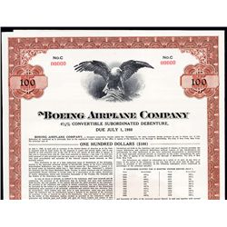 Boeing Airplane Co. Specimen Bond.