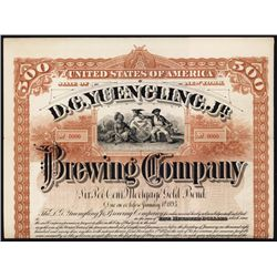 D.G.Yuengling, Jr. Brewing Co. Specimen Bond.