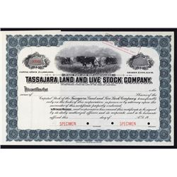 Tassajara Land & Live Stock Co. Specimen Stock.