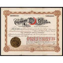 Crescent Cattle Company Stock Certificate.