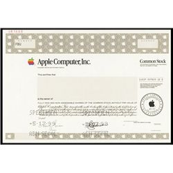 Apple Computer, Inc. Specimen Stock
