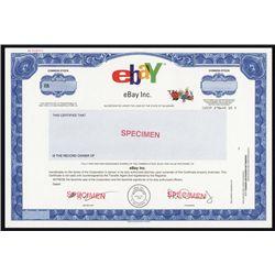 Ebay Inc. IPO Specimen Stock Certificate.