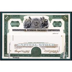 "International Business Machines ""IBM "" Proof Model of Original 1959 Stock Certificate Design."