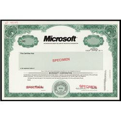 Microsoft With Facsimile Bill Gates Autograph.