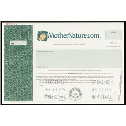 MotherNature.com, Inc. Specimen Shares.