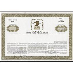 United States Postal Service Specimen Bond.