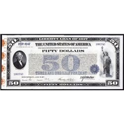 U.S. First Liberty Loan of 1917, $50 Bond.