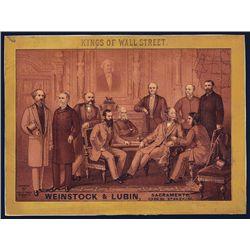 Kings of Wall Street Cigar Label.