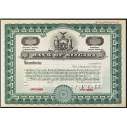 Bank of Niagara, Niagara Falls NY Specimen Stock.
