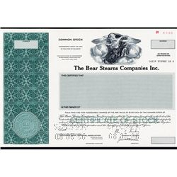 Bear Stearns Co., Inc. Specimen Stock