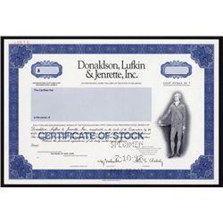 Donaldson, Lufkin & Jenrette, Inc. Specimen Stock Certificate.