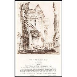 New York Stock Exchange Membership Certificate.