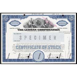 The Lehman Corporation Specimen Stock Certificate.