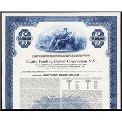 Equity Funding Capital Corporation, Specimen Bond Scam.