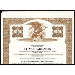 City of Fairbanks Specimen Bond.