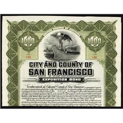 City and County of San Francisco - Panama-Pacific Exposition Bond.