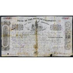 California State Bond, 1854 Issue, Expeditions Against the Indians, For War Indebtedness.