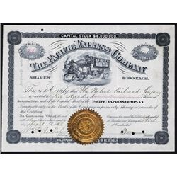 Pacific Express Company Stock Certificate.