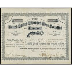 United States Standard Hose Coupling Co. Stock Certificate.