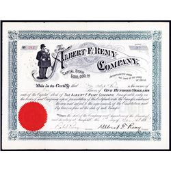 Albert F. Remy Co. Stock Certificate.