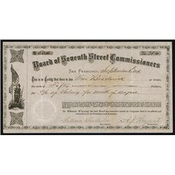 Board of Seventh Street Commissioners, 1876 Warrant.