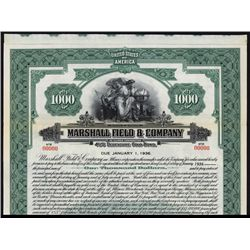Marshall Field & Co. Specimen Bond.