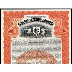 General Electric Company Early Specimen Bond.